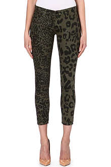 HUDSON JEANS Krista cropped cheetah jeans
