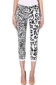 HUDSON JEANS Harkin cheetah-print skinny mid-rise jeans