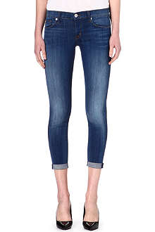 HUDSON JEANS Harkin cropped super-skinny mid-rise jeans