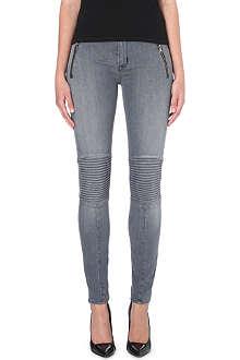 HUDSON JEANS Stark Moto super-skinny mid-rise jeans