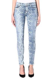 HUDSON JEANS Nico snake-print super-skinny high-rise jeans