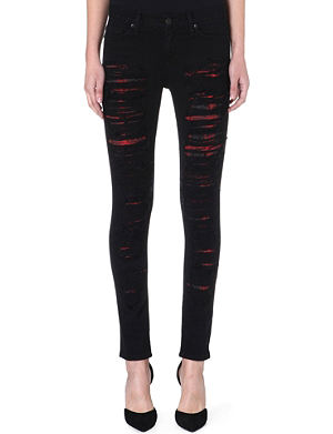 HUDSON JEANS Melissa skinny mid-rise distressed jeans