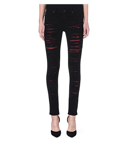 HUDSON JEANS Melissa skinny mid-rise distressed jeans (Nemesis