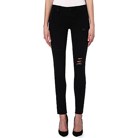 RTA Destroyed skinny mid-rise jeans (Black