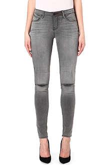 RTA Split-knee skinny mid-rise jeans