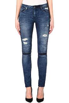 RTA RTA distressed mid-rise skinny jeans