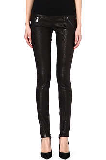RTA Snake effect leather leggings
