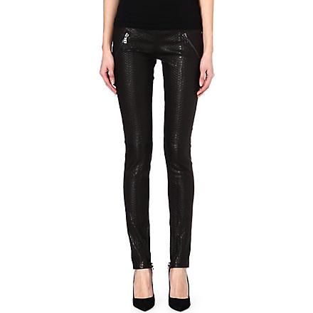 RTA Snake effect leather leggings (Black