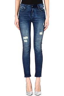 RTA RTA distressed high-rise skinny jeans