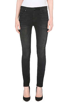 RTA Skinny high-waist stretch-denim jeans