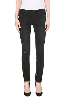 RTA Double-zipped skinny mid-rise jeans