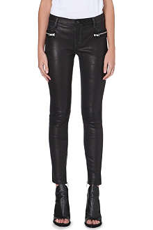 RTA Zip-pocket skinny leather trousers