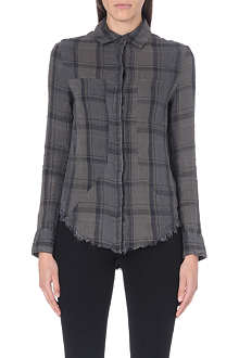 RTA Plaid-print industrial shirt