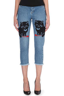 ASHLEY WILLIAMS Tina cropped skinny mid-rise jeans