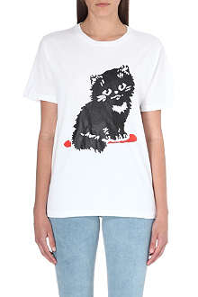 ASHLEY WILLIAMS Cat cotton-jersey t-shirt