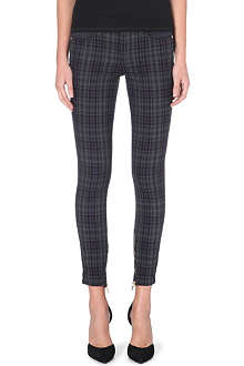 GENETIC DENIM Genetic x Liberty Ross checked skinny mid-rise jeans