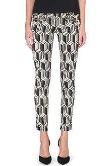 GENETIC DENIM Genetic x Liberty Ross stretch-jacquard skinny mid-rise jeans