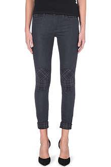 GENETIC DENIM Genetic x Liberty Ross moto skinny mid-rise jeans