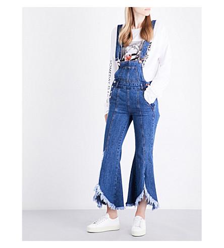 SJYP Flared-leg denim jumpsuit (Denim+blue+0033
