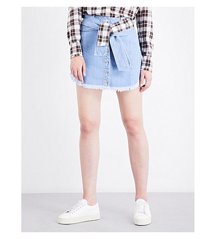 SJYP Tie-waist denim skirt (Light+blue+0030