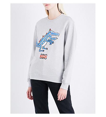 SJYP Dino cotton-jersey sweatshirt (Grey+0095