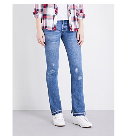 RE/DONE Straight high-rise jeans (No+destruction