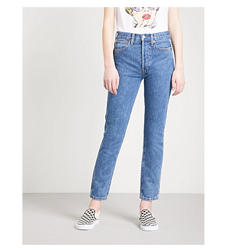 RE/DONE Slim-fit high-rise jeans (Seventies+as+fuck