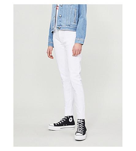 RE/DONE Raw hem skinny high-rise jeans (White
