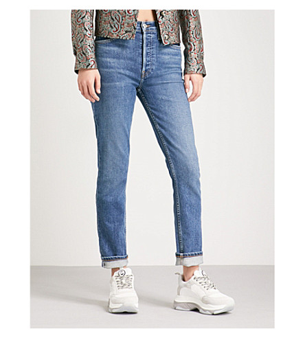 RE/DONE Straight high-rise jeans (Mid+70s