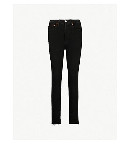 RE/DONE 高腰修身版型紧身牛仔裤 (黑色