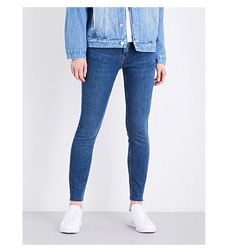 RE/DONE Slim-fit straight high-rise jeans (Dark