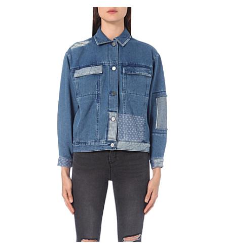 WAVEN Karin patchwork denim jacket (Brand blue patchwork