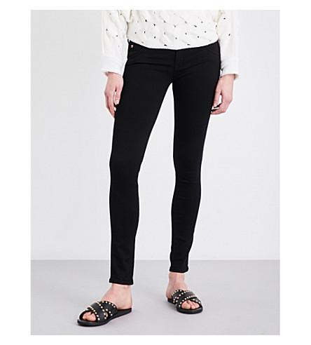 HUDSON JEANS Collin super-skinny mid-rise jeans (Black