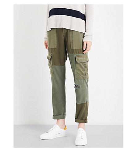 HUDSON JEANS Riley Utility Cargo boyfriend twill trousers (Utility+remix