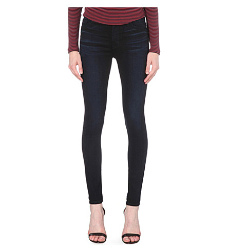 HUDSON JEANS Barbara skinny high-rise jeans (Midnight+sky