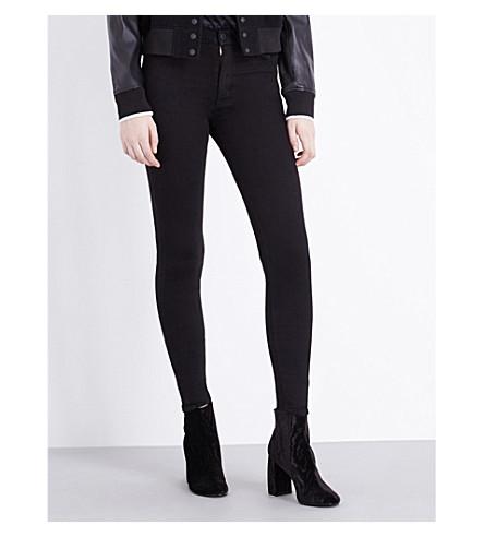 HUDSON JEANS Barbara skinny high-rise jeans (Black