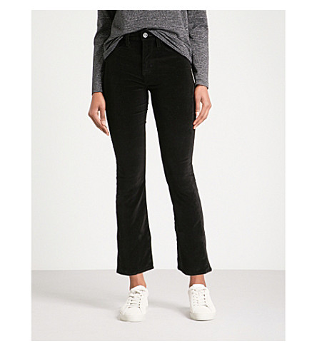 HUDSON JEANS Brix cropped flared high-rise jeans (Blackstar