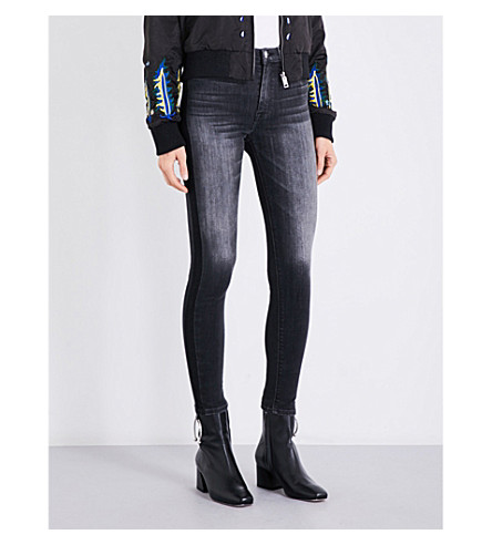 HUDSON JEANS Barbara skinny high-rise jeans (Onix