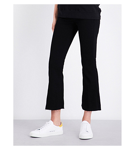 HUDSON JEANS Mia flared mid-rise jeans (Black