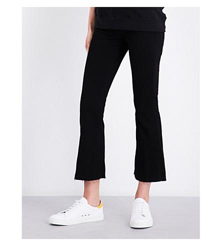 HUDSON JEANS Mia flared mid-rise jeans (Black