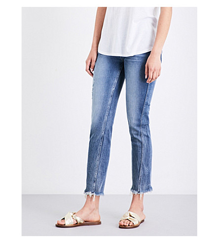 HUDSON JEANS Rival cropped high-rise jeans (Uproar