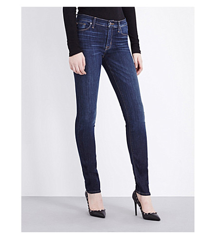 HUDSON JEANS Shine skinny mid-rise jeans (Elemental