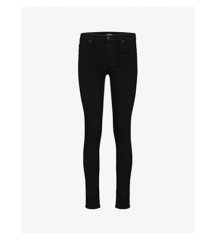 HUDSON JEANS Nico super-skinny mid-rise coated jeans (Black