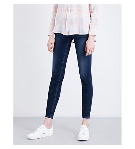 HUDSON JEANS Collin skinny mid-rise jeans (Crest+falls