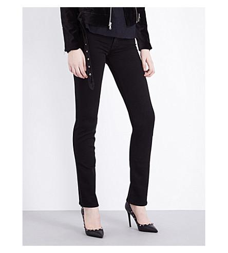 HUDSON JEANS Tilda straight mid-rise jeans (Black