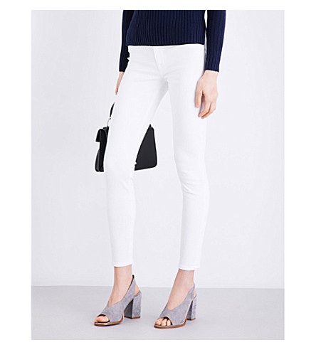 HUDSON JEANS Nico super-skinny mid-rise jeans (White