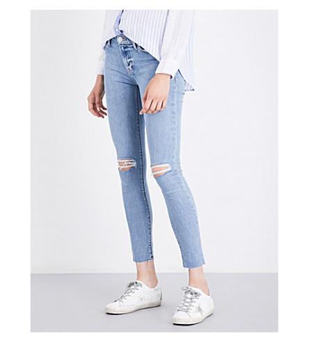HUDSON JEANS Nico distressed super-skinny mid-rise jeans (Hooligan