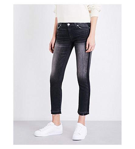 HUDSON JEANS Tilda cigarette cropped mid-rise jeans (Onix