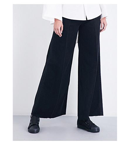 MIHARAYASUHIRO Wide-leg high-rise jeans (Black