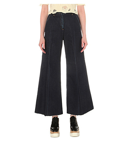 MIHARAYASUHIRO Wide-leg high-rise jeans (Dark+blue